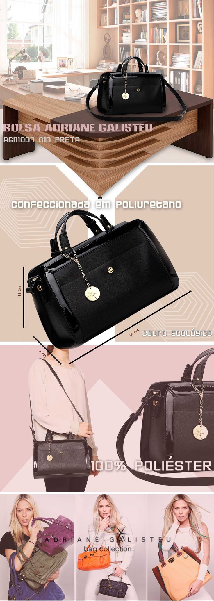 Bolsas femininas Adriane Galisteu . A maior variedade de bolsas, malas e mochilas da internet em um só lugar. Pensou em bolsa, pensou EllaStore. A sua loja de bolsas da internet