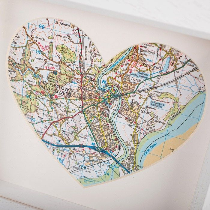 Personalised Map Heart Location Frame A Unique