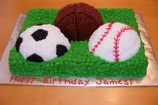 Sports Cake - for Trinity would do volleyball, basketball & softball....  I'm I that brave?