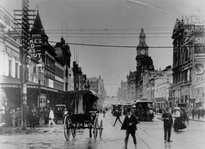 Bourke Street, Melbourne, Australia. Ref: 1/2-056441-F. Alexander Turnbull…