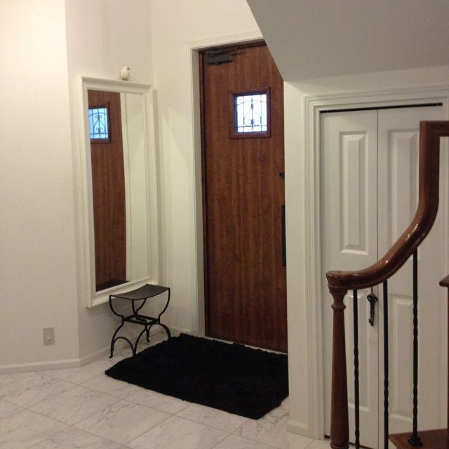 アイアン手摺/アイアンスツール/玄関マット/アイアン/玄関/入り口のインテリア実例 - 2012-11-30 15:50:47 | RoomClip(ルームクリップ)
