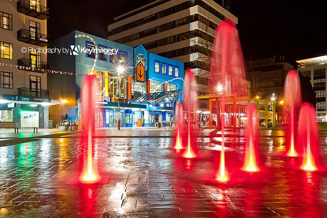 Fountain in Garden Place, Hamilton, NZ