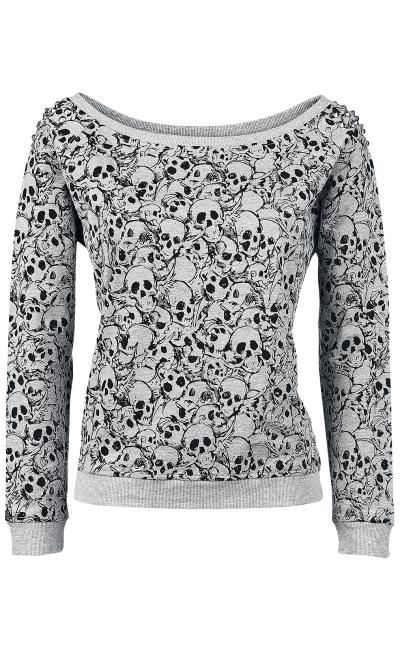 Skull Sweatshirt by Full Volume ~ EMP