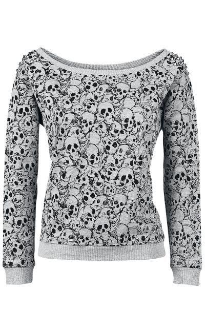 Skull Sweatshirt by Full Volume ~ EMP