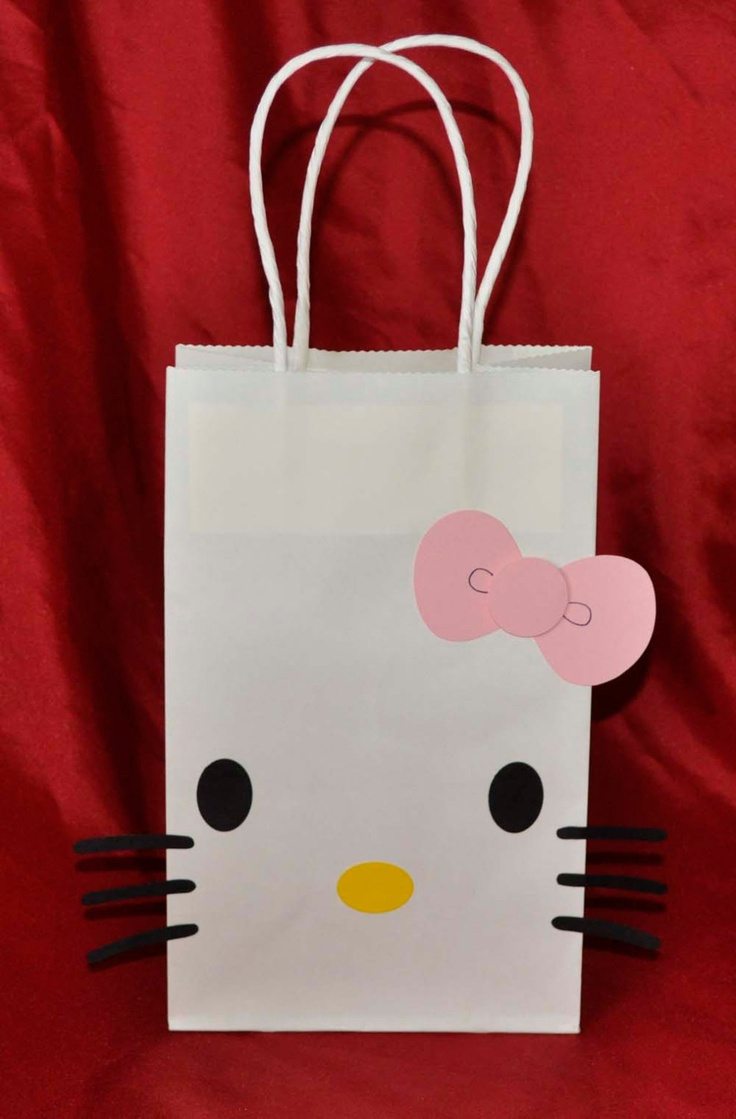 Hello Kitty Birthday Party Gift Goody Bags set by collegesxpensive, $8.99