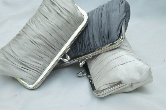 Gathered Kisslock: Formal Clutch (CHOOSE YOUR COLORS) Wedding purse. $59.00, via Etsy.