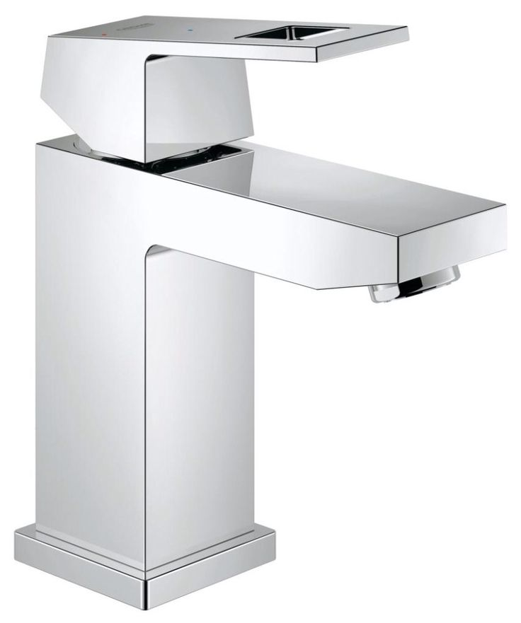 Pic On Grohe Eurocube Single Hole Bathroom Faucet with SilkMove and QuickFix Technologies Includes Metal Pop Up Drain Assembly