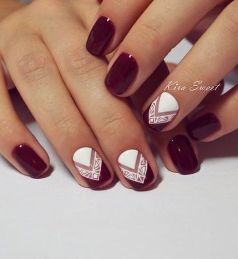 contrast nails dark nails fall nail ideas fall nails fashion nails geometric nails nails ideas nails trends 2016 again color not design - Nails Design Ideas