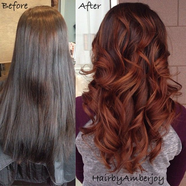 Balayage With Brown And Red - photo#7