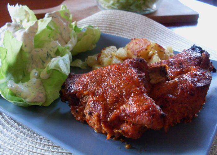 Delicious pork ribs ....