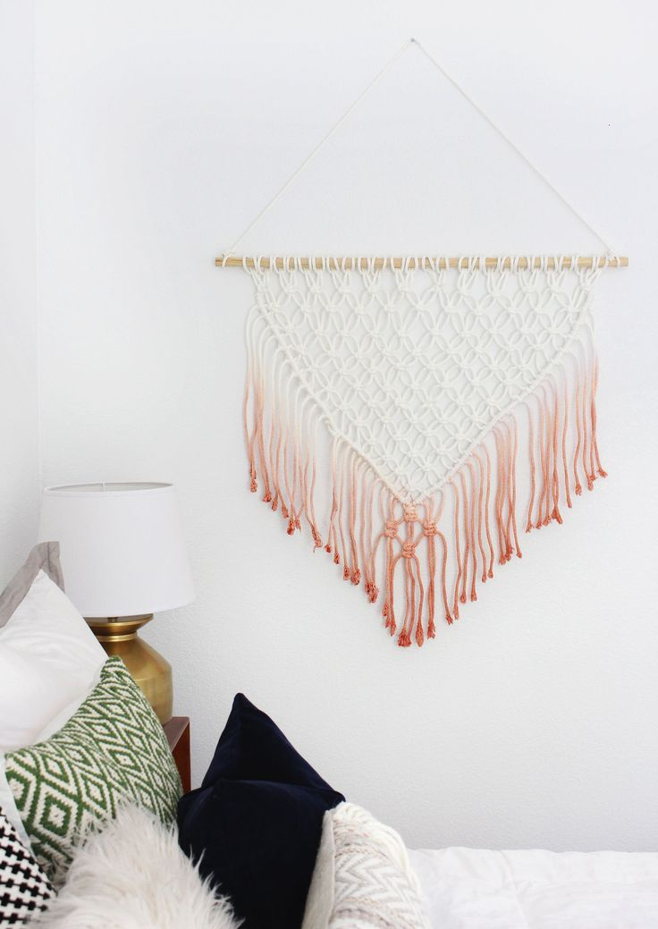 We love this beautiful macramé wall hanging from @classyclutter4! Learn how to make this fun home décor idea here. #macrame #wallhanging #decor