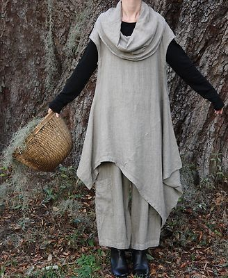 Would like something made in the shape of the cowl neck top, but out of more luxurious fabric. Also, I would wear it with either a long dark skirt or dark wash jeans.