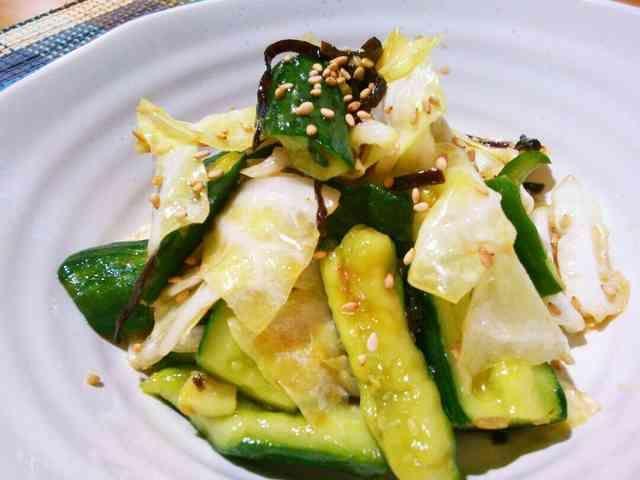胡瓜とキャベツのやみつきサラダの画像
