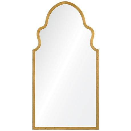 "Hall table -- Cooper Classics Lincoln 19 3/4"" x 38"" Gold Wall Mirror - #1G244 