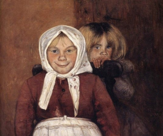 "Hugo Simberg (1873 – 1917, Finnish). ""Brother & Sister"""
