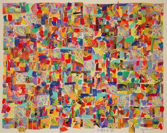 Göttliche Matrix Collage auf Leinwand von MimiBoutique auf Etsy