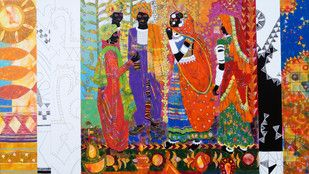 Indian Artist Arts Online | Anuradha Thakur | Buy Anuradha Thakur Paintings