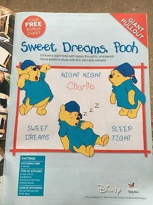 Winnie the Pooh Sweet Dreams, Pooh The World of Cross Stitching Issue 108 March 2006 Saved