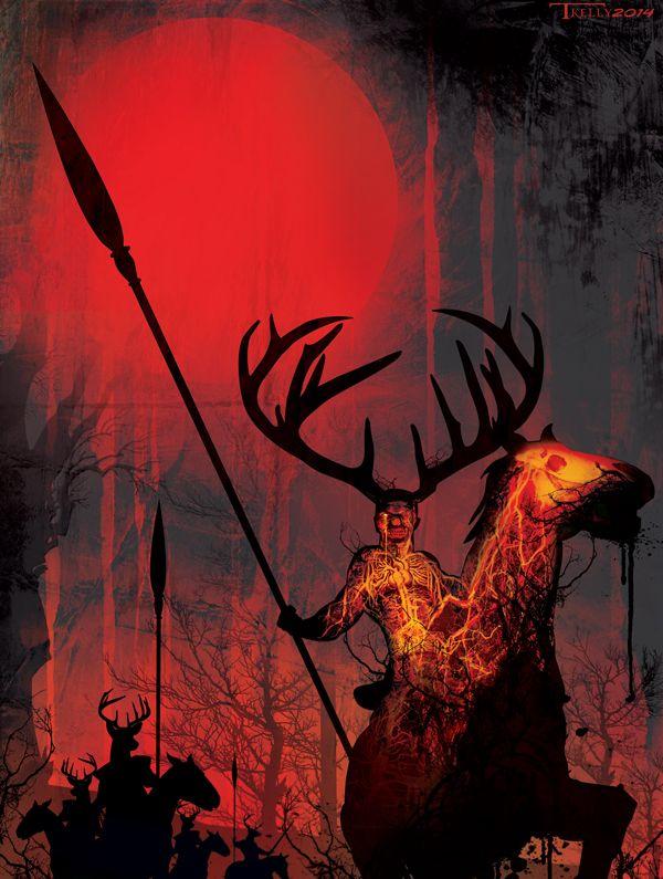 """Wild Hunt:  """"#Wild #Hunt,"""" by TomKellyART, at deviantART."""