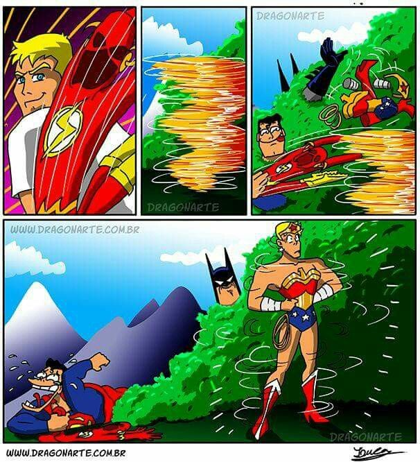 Superman and Batman troll