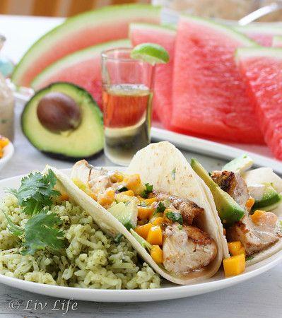 Liv Life: Grilled Mahi Mahi Fish Tacos with Mango Pineapple Salsa - A Food Photography Challenge: Photography Challenges, Grilled Fish Tacos, Healthy Eating, Mahi Fish, Grilled Mahi, Food Photography, Mango Salsa, Favorite Recipes, Tacos Recipe