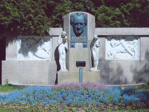 Františkovy Lázně - Pomník Johann Wolfgang von Goethe