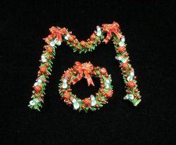 Red Snowmen Wreath & Garland
