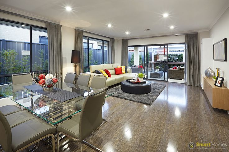 Dining and living room  #interiordesign by #SmartHomesForLiving