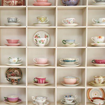 Display of teacups   - {this is glamorous}