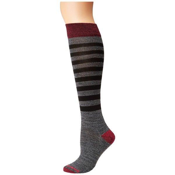 Smartwool Premium Gypsum Ridge Boucle Knee High (Black) Women's Knee... ($40) ❤ liked on Polyvore featuring intimates, hosiery, socks, knee socks, knee high socks, knee hi socks, seamless socks and no seam socks