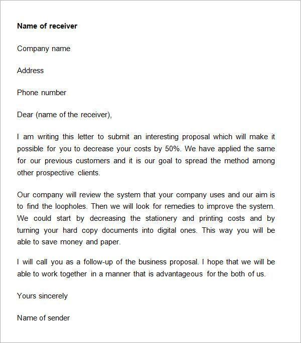 Business Proposal Letter Doc Proposal Letter Business Proposal