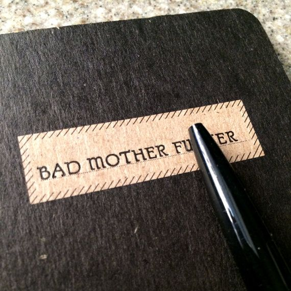 bad mother pocket notebook by EightElevenPress on Etsy, $6.00