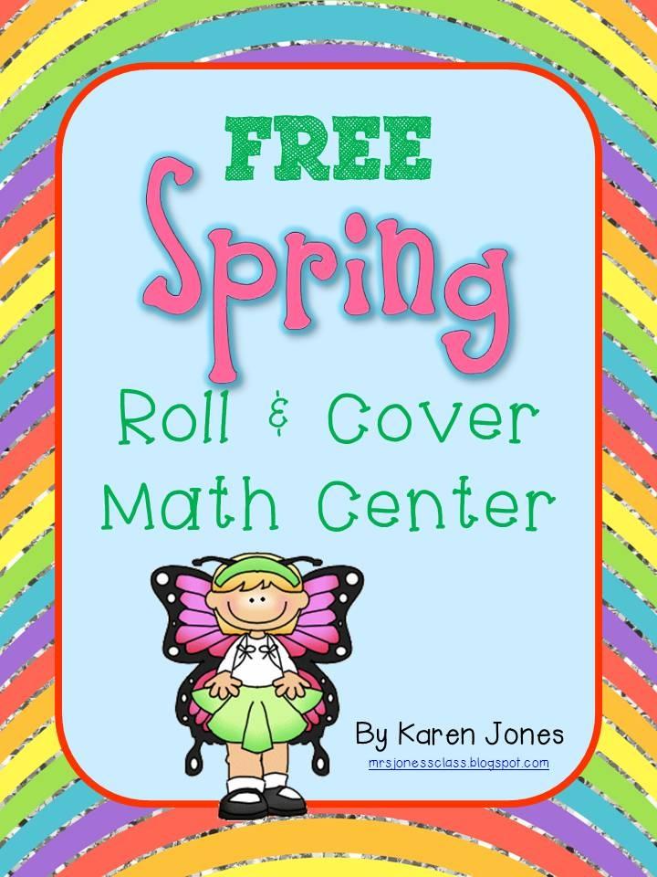 Mrs. Jones's Kindergarten: Spring Centers and a FREEBIE!