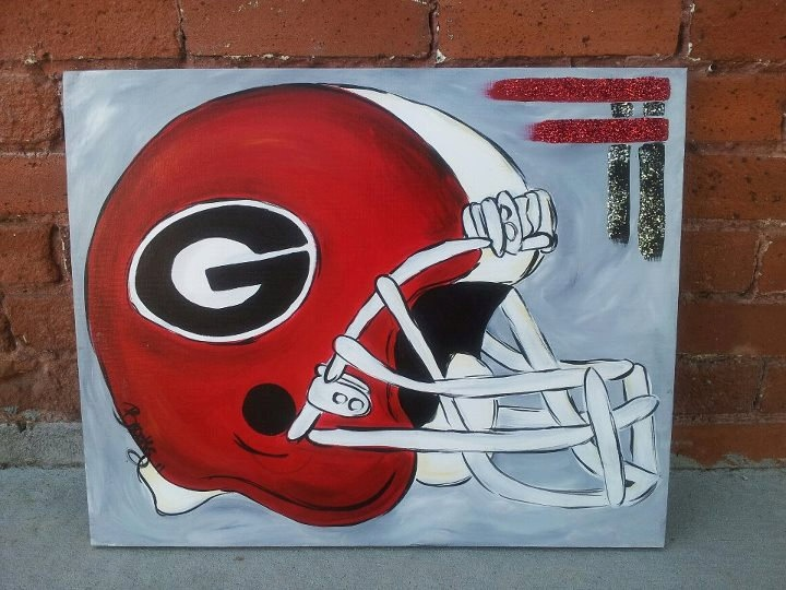 Georgia Bulldog Painting. $30.00, via Etsy.