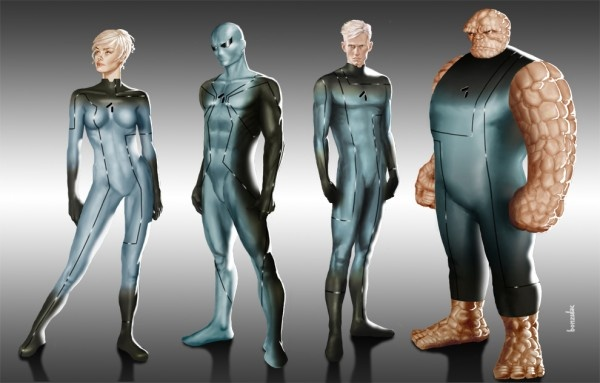 Fantastic Four redesign by Paul Bonzulac