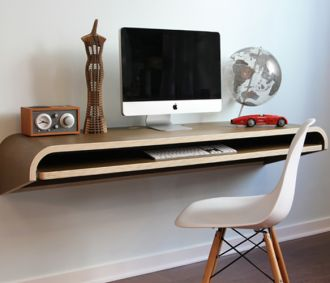 Minimal Float Wall Desk