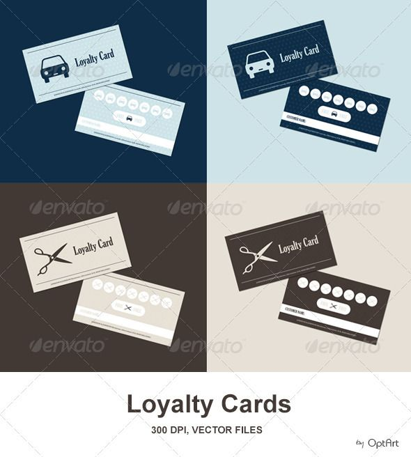 Car Wash & Hairdresser Loyalty Card Pack - EPS Template • Only available here ➝ http://graphicriver.net/item/car-wash-hairdresser-loyalty-card-pack/2806921?ref=pxcr