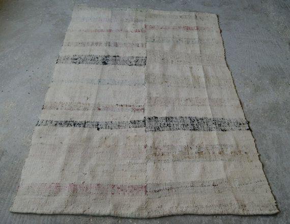 4 5 X6 10 Rag Rug Striped Kilim Boho