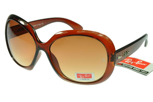 $14.30! Ray-Ban Jackie Ohh 136 New Deep Brown Red Frame Tawny Lens RB1327