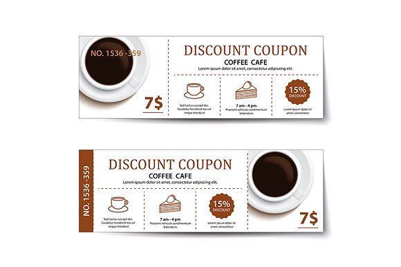 coffee coupon discount template by kaisorn on @creativemarket