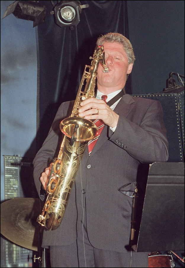 You're still cracking jokes about Bill Clinton's saxophone playing. | 13 Telltale Signs You're Stuck In The '90s