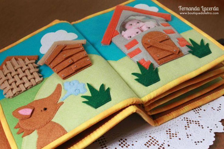 Confecção deste Quiet Book, também conhecido como: Livro educativo; livro sensorial. Peça em Feltro de Fernanda Lacerda