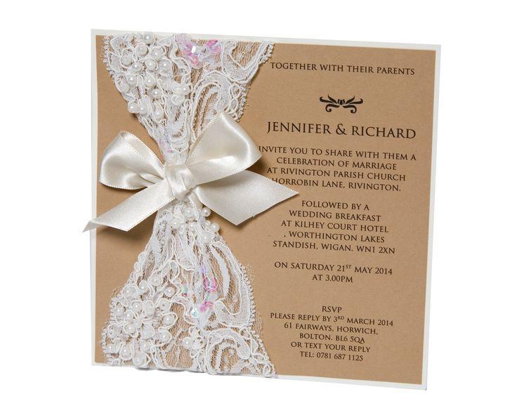 Vintage Rustic Wedding Invitations by Scarlett Kissses