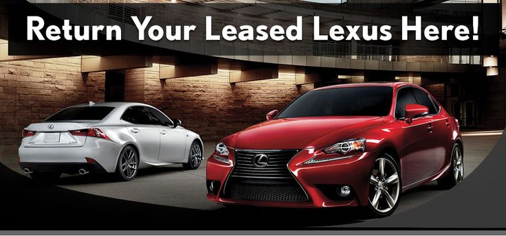 Learn more about Lexus lease returns and all of the Lexus lease-end options.