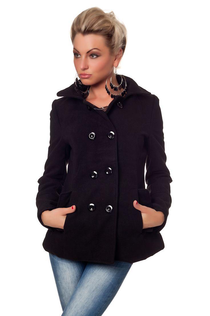 Naisten vaatteet - Takit - Lyhyt musta takki - ClothStation