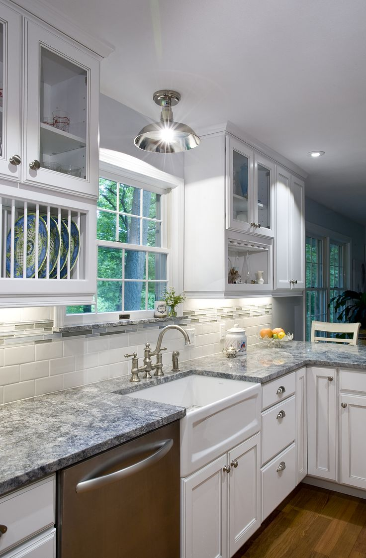 One Of Our Own Kitchen Remodels Including: Kabinart Cabinets, Azul Aran  Granite, Apron