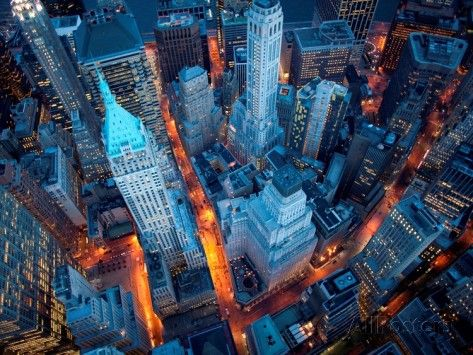 Aerial View of Wall Street Prints by Cameron Davidson - at AllPosters.com.au