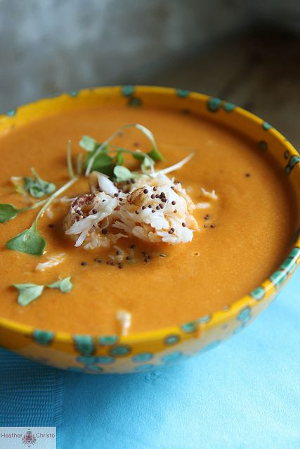 Spicy Tomato and Crab Soup by Heather Christo, via Flickr