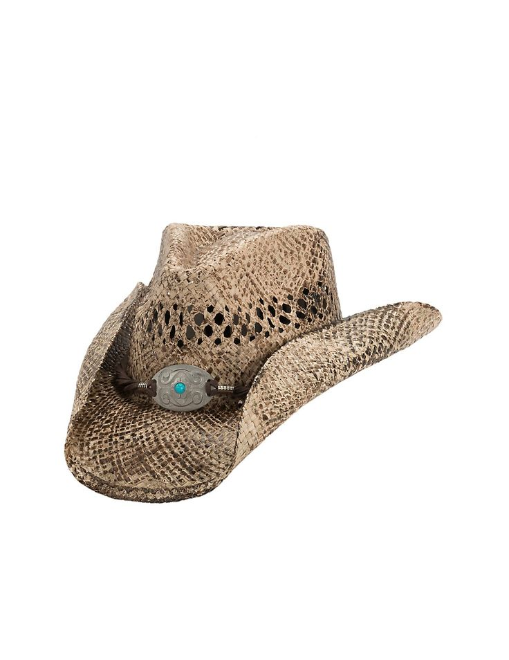 Dorfman Pacific Toasted Straw with Turquoise Concho Band Fashion Cowboy Hat | Cavender's