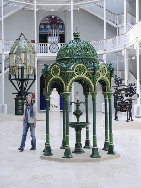 National Museum of Scotland - one of the best cafes in Edinburgh on the balcony in the main hall. New galleries opening in July!!! via www.AboutBritain.com